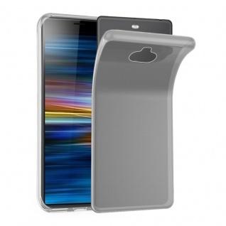 Cadorabo Hülle für Sony Xperia 10 in VOLL TRANSPARENT - Handyhülle aus flexiblem TPU Silikon - Silikonhülle Schutzhülle Ultra Slim Soft Back Cover Case Bumper