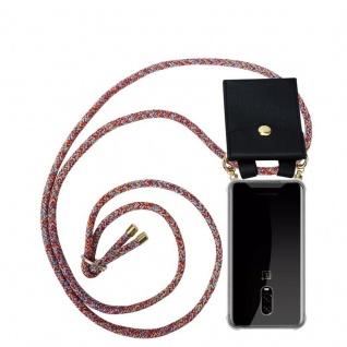 Cadorabo Handy Kette für OnePlus 6T in COLORFUL PARROT - Silikon Necklace Umhänge Hülle mit Gold Ringen, Kordel Band Schnur und abnehmbarem Etui ? Schutzhülle