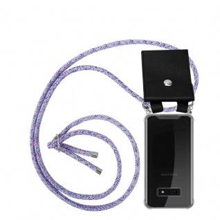 Cadorabo Handy Kette für Samsung Galaxy S10e in UNICORN - Silikon Necklace Umhänge Hülle mit Silber Ringen, Kordel Band Schnur und abnehmbarem Etui - Schutzhülle