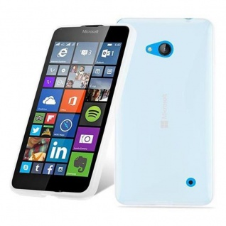 Cadorabo Hülle für Nokia Lumia 640 in HALB TRANSPARENT ? Handyhülle aus flexiblem TPU Silikon ? Silikonhülle Schutzhülle Ultra Slim Soft Back Cover Case Bumper
