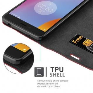 Cadorabo Hülle für Lenovo K6 NOTE in APFEL ROT Handyhülle mit Magnetverschluss, Standfunktion und Kartenfach Case Cover Schutzhülle Etui Tasche Book Klapp Style - Vorschau 2