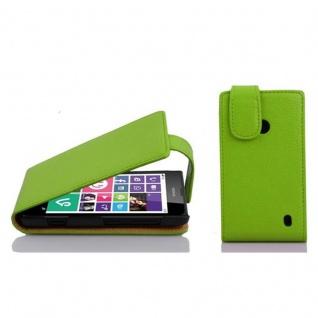 Cadorabo Hülle für Nokia Lumia 630 / 635 in APFEL GRÜN - Handyhülle im Flip Design aus strukturiertem Kunstleder - Case Cover Schutzhülle Etui Tasche Book Klapp Style