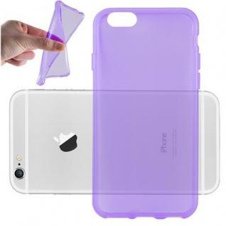 Cadorabo Hülle für Apple iPhone 6 / iPhone 6S in TRANSPARENT LILA - Handyhülle aus flexiblem TPU Silikon - Silikonhülle Schutzhülle Ultra Slim Soft Back Cover Case Bumper