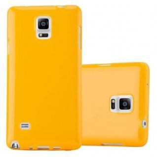Cadorabo Hülle für Samsung Galaxy NOTE 4 in JELLY GELB ? Handyhülle aus flexiblem TPU Silikon ? Silikonhülle Schutzhülle Ultra Slim Soft Back Cover Case Bumper