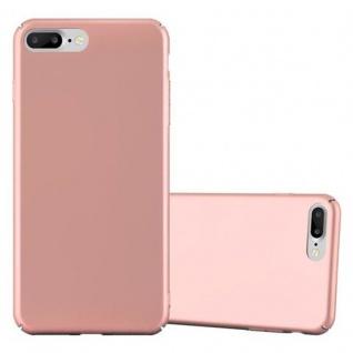Cadorabo Hülle für Apple iPhone 8 PLUS / iPhone 7 PLUS / iPhone 7S PLUS in METALL ROSE GOLD - Hardcase Handyhülle aus Plastik gegen Kratzer und Stöße - Schutzhülle Bumper Ultra Slim Back Case Hard Cover