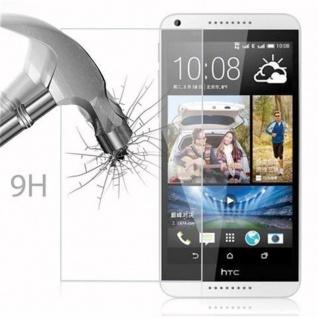 Cadorabo Panzer Folie für HTC Desire 816 - Schutzfolie in KRISTALL KLAR - Gehärtetes (Tempered) Display-Schutzglas in 9H Härte mit 3D Touch Kompatibilität - Vorschau 3