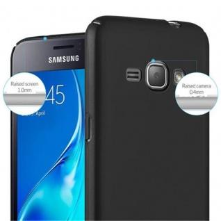 Cadorabo Hülle für Samsung Galaxy J1 2016 in METALL SCHWARZ - Hardcase Handyhülle aus Plastik gegen Kratzer und Stöße - Schutzhülle Bumper Ultra Slim Back Case Hard Cover - Vorschau 5