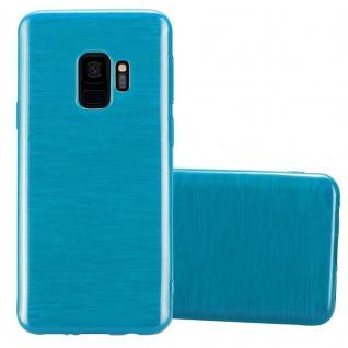 Cadorabo Hülle für Samsung Galaxy S9 in TÜRKIS - Handyhülle aus flexiblem TPU Silikon - Silikonhülle Schutzhülle Ultra Slim Soft Back Cover Case Bumper