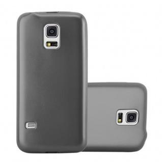 Cadorabo Hülle für Samsung Galaxy S5 / S5 NEO in METALLIC GRAU - Handyhülle aus flexiblem TPU Silikon - Silikonhülle Schutzhülle Ultra Slim Soft Back Cover Case Bumper