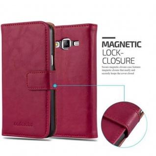 Cadorabo Hülle für Samsung Galaxy J5 2015 in WEIN ROT - Handyhülle mit Magnetverschluss, Standfunktion und Kartenfach - Case Cover Schutzhülle Etui Tasche Book Klapp Style - Vorschau 2