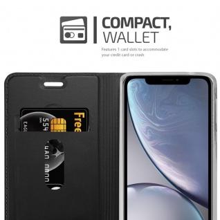Cadorabo Hülle für Apple iPhone XS MAX in CLASSY SCHWARZ - Handyhülle mit Magnetverschluss, Standfunktion und Kartenfach - Case Cover Schutzhülle Etui Tasche Book Klapp Style - Vorschau 4