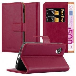 Cadorabo Hülle für LG NEXUS 5 in WEIN ROT Handyhülle mit Magnetverschluss, Standfunktion und Kartenfach Case Cover Schutzhülle Etui Tasche Book Klapp Style
