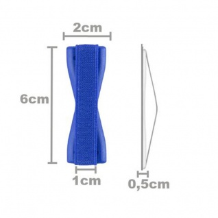 Cadorabo - Finger-Halterung Sling Grip für Smartphone / Tablet / iPod / eReader Griff Henkel Sling Schlaufe Riemen in BLAU - Vorschau 5