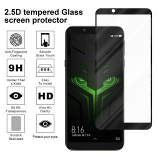 Cadorabo Vollbild Panzer Folie für Xiaomi BLACK SHARK 2 - Schutzfolie in TRANSPARENT mit SCHWARZ - Gehärtetes (Tempered) Display-Schutzglas in 9H Härte mit 3D Touch Kompatibilität - Vorschau 4