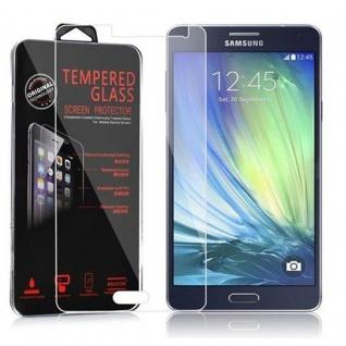 Cadorabo Panzer Folie für Samsung Galaxy A7 2015 - Schutzfolie in KRISTALL KLAR - Gehärtetes (Tempered) Display-Schutzglas in 9H Härte mit 3D Touch Kompatibilität
