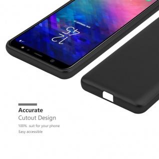 Cadorabo Hülle für Samsung Galaxy A6 2018 in METALLIC SCHWARZ - Handyhülle aus flexiblem TPU Silikon - Silikonhülle Schutzhülle Ultra Slim Soft Back Cover Case Bumper - Vorschau 5