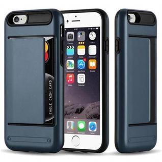 Cadorabo Hülle für Apple iPhone 6 / iPhone 6S - Hülle in ARMOR DUNKEL BLAU - Handyhülle mit Kartenfach - Hard Case TPU Silikon Schutzhülle für Hybrid Cover im Outdoor Heavy Duty Design