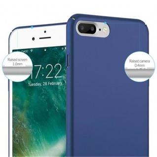 Cadorabo Hülle für Apple iPhone 8 PLUS / iPhone 7 PLUS / iPhone 7S PLUS in METALL BLAU - Hardcase Handyhülle aus Plastik gegen Kratzer und Stöße - Schutzhülle Bumper Ultra Slim Back Case Hard Cover - Vorschau 5
