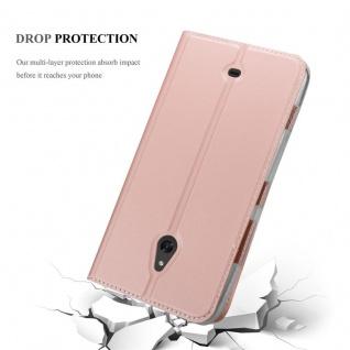Cadorabo Hülle für Nokia Lumia 1320 in CLASSY ROSÉ GOLD - Handyhülle mit Magnetverschluss, Standfunktion und Kartenfach - Case Cover Schutzhülle Etui Tasche Book Klapp Style - Vorschau 5