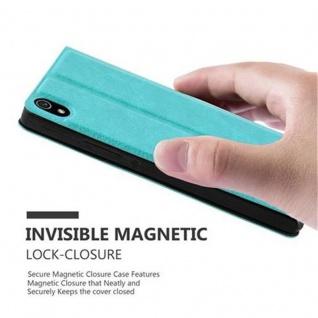 Cadorabo Hülle für Huawei P7 in MINT TÜRKIS ? Handyhülle mit Magnetverschluss, Standfunktion und 2 Sichtfenstern ? Case Cover Schutzhülle Etui Tasche Book Klapp Style - Vorschau 5