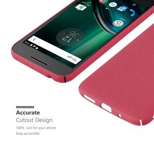 Cadorabo Hülle für Motorola MOTO G4 PLAY in FROSTY ROT - Hardcase Handyhülle aus Plastik gegen Kratzer und Stöße - Schutzhülle Bumper Ultra Slim Back Case Hard Cover - Vorschau 4