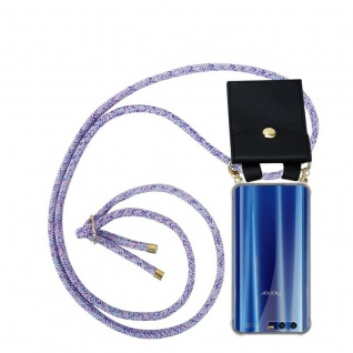 Cadorabo Handy Kette für Honor 9 in UNICORN - Silikon Necklace Umhänge Hülle mit Gold Ringen, Kordel Band Schnur und abnehmbarem Etui ? Schutzhülle