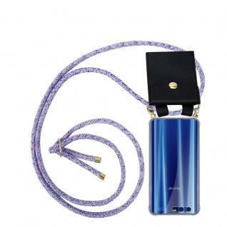 Cadorabo Handy Kette für Honor 9 in UNICORN Silikon Necklace Umhänge Hülle mit Gold Ringen, Kordel Band Schnur und abnehmbarem Etui Schutzhülle