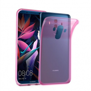 Cadorabo Hülle für Huawei MATE 10 PRO in TRANSPARENT PINK - Handyhülle aus flexiblem TPU Silikon - Silikonhülle Schutzhülle Ultra Slim Soft Back Cover Case Bumper