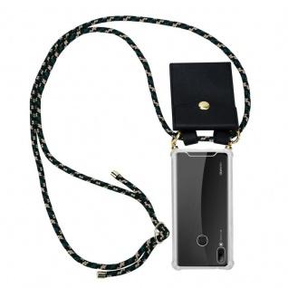 Cadorabo Handy Kette für Huawei P SMART 2019 in CAMOUFLAGE ? Silikon Necklace Umhänge Hülle mit Gold Ringen, Kordel Band Schnur und abnehmbarem Etui ? Schutzhülle