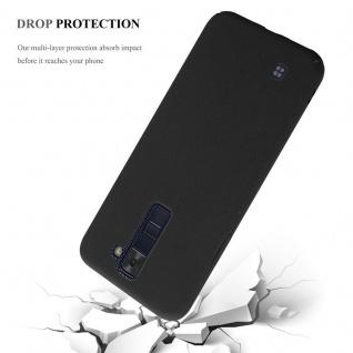 Cadorabo Hülle für LG K8 2016 in FROSTY SCHWARZ - Hardcase Handyhülle aus Plastik gegen Kratzer und Stöße - Schutzhülle Bumper Ultra Slim Back Case Hard Cover - Vorschau 4