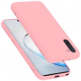 Cadorabo Hülle für Samsung Galaxy NOTE 10 in LIQUID PINK Handyhülle aus flexiblem TPU Silikon Silikonhülle Schutzhülle Ultra Slim Soft Back Cover Case Bumper