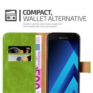 Cadorabo Hülle für Samsung Galaxy A3 2017 in GRAS GRÜN ? Handyhülle mit Magnetverschluss, Standfunktion und Kartenfach ? Case Cover Schutzhülle Etui Tasche Book Klapp Style - Vorschau 3