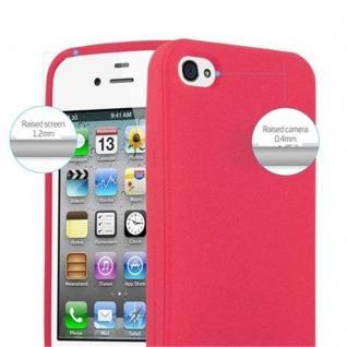 Cadorabo Hülle für Apple iPhone 4 / iPhone 4S in FROSTY ROT - Hardcase Handyhülle aus Plastik gegen Kratzer und Stöße - Schutzhülle Bumper Ultra Slim Back Case Hard Cover - Vorschau 4
