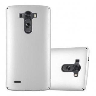 Cadorabo Hülle für LG G3 in METALL SILBER - Hardcase Handyhülle aus Plastik gegen Kratzer und Stöße - Schutzhülle Bumper Ultra Slim Back Case Hard Cover