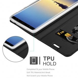 Cadorabo Hülle für Samsung Galaxy NOTE 8 in CLASSY SCHWARZ - Handyhülle mit Magnetverschluss, Standfunktion und Kartenfach - Case Cover Schutzhülle Etui Tasche Book Klapp Style - Vorschau 2