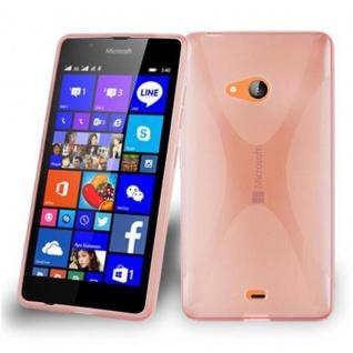 Cadorabo Hülle für Nokia Lumia 540 in HALB TRANSPARENT ? Handyhülle aus flexiblem TPU Silikon ? Silikonhülle Schutzhülle Ultra Slim Soft Back Cover Case Bumper