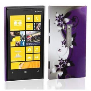 Cadorabo - Hard Cover für Nokia Lumia 800 - Case Cover Schutzhülle Bumper im Design: LILA VEILCHEN