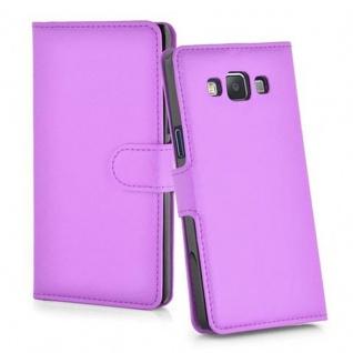 Cadorabo Hülle für Samsung Galaxy A7 2015 in MANGAN VIOLETT - Handyhülle mit Magnetverschluss, Standfunktion und Kartenfach - Case Cover Schutzhülle Etui Tasche Book Klapp Style - Vorschau 3