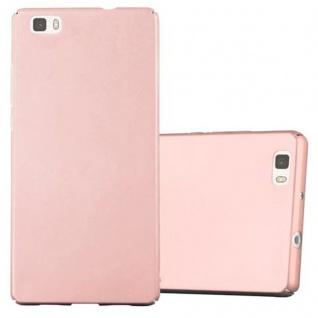 Cadorabo Hülle für Huawei P8 LITE 2015 in METALL ROSE GOLD ? Hardcase Handyhülle aus Plastik gegen Kratzer und Stöße ? Schutzhülle Bumper Ultra Slim Back Case Hard Cover