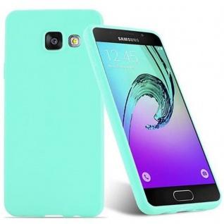 Cadorabo Hülle für Samsung Galaxy A3 2016 in CANDY BLAU - Handyhülle aus flexiblem TPU Silikon - Silikonhülle Schutzhülle Ultra Slim Soft Back Cover Case Bumper - Vorschau 2