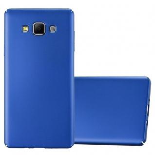 Cadorabo Hülle für Samsung Galaxy A7 2015 in METALL BLAU - Hardcase Handyhülle aus Plastik gegen Kratzer und Stöße - Schutzhülle Bumper Ultra Slim Back Case Hard Cover