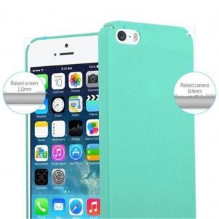 Cadorabo Hülle für Apple iPhone 5 / iPhone 5S / iPhone SE in FROSTY GRÜN - Hardcase Handyhülle aus Plastik gegen Kratzer und Stöße - Schutzhülle Bumper Ultra Slim Back Case Hard Cover - Vorschau 5
