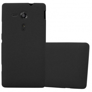 Cadorabo Hülle für Sony Xperia SP in FROST SCHWARZ - Handyhülle aus flexiblem TPU Silikon - Silikonhülle Schutzhülle Ultra Slim Soft Back Cover Case Bumper