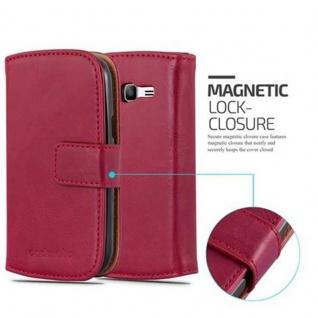 Cadorabo Hülle für Samsung Galaxy TREND LITE in WEIN ROT ? Handyhülle mit Magnetverschluss, Standfunktion und Kartenfach ? Case Cover Schutzhülle Etui Tasche Book Klapp Style - Vorschau 2