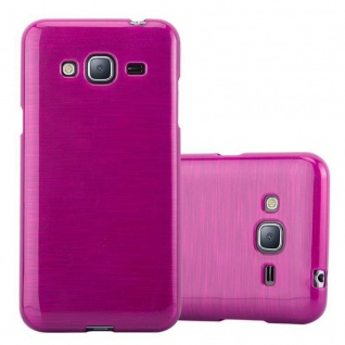 Cadorabo Hülle für Samsung Galaxy J3 / J3 DUOS 2016 in PINK - Handyhülle aus flexiblem TPU Silikon - Silikonhülle Schutzhülle Ultra Slim Soft Back Cover Case Bumper