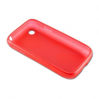 Cadorabo Hülle für LG L40 (1. Sim-Version) in INFERNO ROT - Handyhülle aus flexiblem TPU Silikon - Silikonhülle Schutzhülle Ultra Slim Soft Back Cover Case Bumper - Vorschau 3