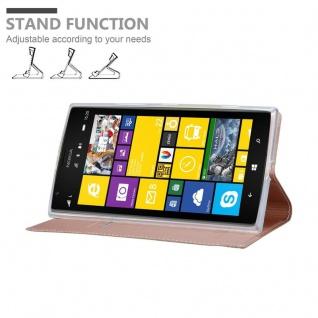 Cadorabo Hülle für Nokia Lumia 1520 in CLASSY ROSÉ GOLD - Handyhülle mit Magnetverschluss, Standfunktion und Kartenfach - Case Cover Schutzhülle Etui Tasche Book Klapp Style - Vorschau 4