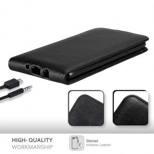 Cadorabo Hülle für Samsung Galaxy J7 2016 in NACHT SCHWARZ - Handyhülle im Flip Design mit unsichtbarem Magnetverschluss - Case Cover Schutzhülle Etui Tasche Book Klapp Style - Vorschau 5