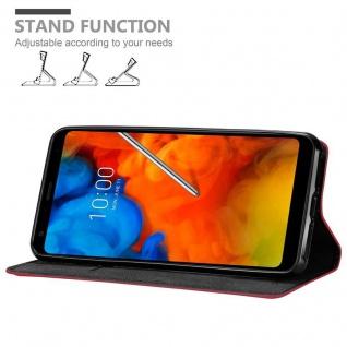 Cadorabo Hülle für LG Q Stylus in APFEL ROT Handyhülle mit Magnetverschluss, Standfunktion und Kartenfach Case Cover Schutzhülle Etui Tasche Book Klapp Style - Vorschau 4
