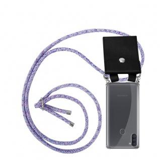 Cadorabo Handy Kette für Samsung Galaxy M11 in UNICORN Silikon Necklace Umhänge Hülle mit Silber Ringen, Kordel Band Schnur und abnehmbarem Etui Schutzhülle